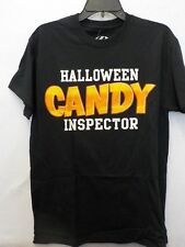 MENS SIZE MEDIUM BLACK HALLOWEEN HALLOWEEN CANDY INSPECTOR TSHIRT NEW #3752