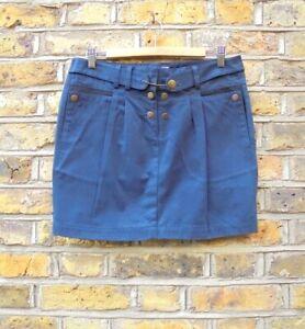 "See By Chloe Navy Blue Short Mini Skirt Size UK 12 W 31"" L 16.5"" NEW"