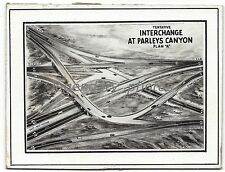 Sketch of Interchange at Parlays Canyon 1957 Original News Service Photo