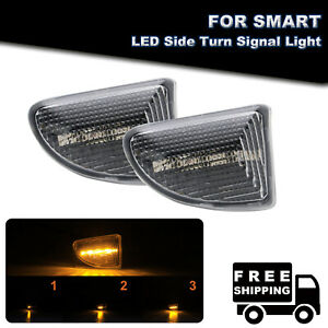 Sequential LED Side Marker Turn Signal Light For 07-15 Smart Fortwo 451 MK1 MKII