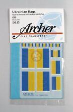 Archer 1/35 Ukrainian Flags (10 flags 4 sizes) [Decal Diorama Accessory] AR35398