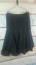 White Stag  Black Floral  Boho Peasant Gypsy Flared Skirt  Size 16