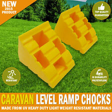 Caravan Levelling Level Ramp Chocks Heavy Durability Polyethylene UV Resistant