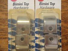 BIMINI TOP HARDWARE SLIDE TRACK END CAPS CHROME TAYLOR 5962 4PAC MARINE BOAT