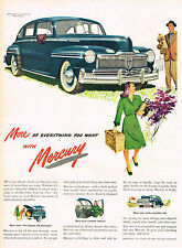 Vintage 1946  Magazine Ad Mercury More Fun Ahead In Car That Gives Everything