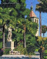 COLOR PRINT OF OIL PAINTING, CALIFORNIA MISSION #12