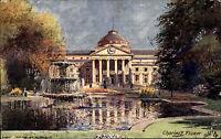 Wiesbaden Hessen 1909 Neues Kurhaus Gemälde Charles F. Flower Tucks Postkarte