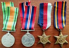 War Medal 1939 -1945, Defence Medal, Burma Star, 1939 – 1945 Star in O. H. M. S