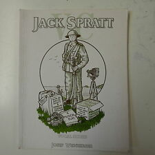 vocal score JACK SPRATT VC , allwood - scott - james taylor , pencilled copy