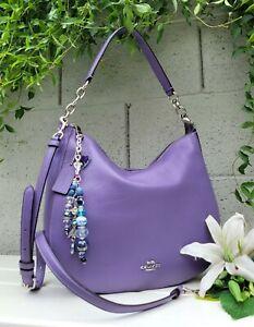 New Coach F31399 Light purple pebbled Leather Elle Hobo Shoulder Bag Purse