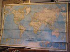 THE WORLD + OCEAN FLOOR HUGE MAP National Geographic December 1981