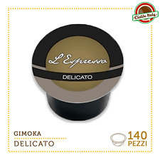 140 Capsules de café Gimoka Compatibles LAVAZZA EN SORTE MIO Espresso Délicat