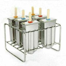 6x Eisformer Stieleisform Eisform Stieleisformer Eismaker Edelstahl Form DIY DE