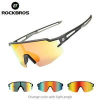 ROCKBROS Photochromic and Polarized Cycling Glasses Full Frame Sports  Goggles