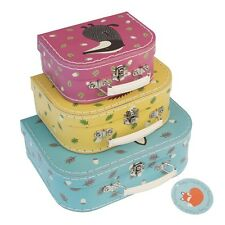 dotcomgiftshop SET OF 3 RUSTY AND FRIENDS MINI SUITCASES