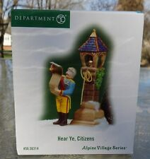 2004 Department 56 Alpine Village Series #56.56314 Hear Ye, Citizens Unused look