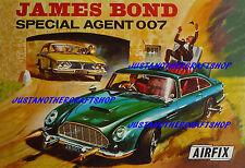 AIRFIX JAMES BOND 007 ASTON MARTIN DB5 1966 POSTER Pubblicità segno foglio formato A3