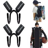 2x Deck Hook Skateboard Holder Carrier Dual Shoulder Backpack Hook Carry Hanger