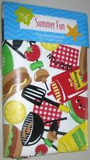SUMMER BBQ PEVA TABLECLOTH 52 x 70 Oblong Barbeque Grill Barbecue Picnic