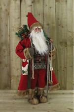 0,9 M Babbo Natale Verticale Decorazione Dell'ornamento 90cm Rosso Morbido