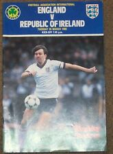 england v republic of  ireland   friendly 26/3/85 programme