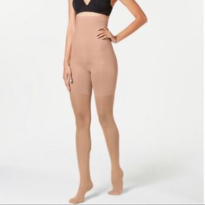 Spanx All the Way Up High Waist Plus Size Tights Nylons Nude Size 7 G 1X 2X 3X