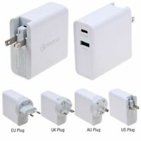 30W Type-C USB-C QC3.0 PD Mobile Phone Fast Charging Wall Charger Power Adapter