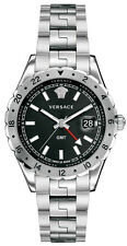 Versace Hellenyium GMT V11020015 Elegante Herren Damen Unisex Edelstahl Uhr