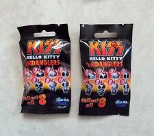 HELLO KITTY KISS DANGLERS SET OF 2 - CELL PHONE KEY RING BAG CHARM - NEW