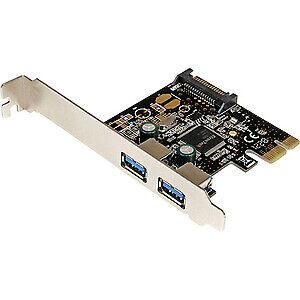 Startech 2 Port Pci Express Pcie Superspeed Usb 3.0 Controller Card W/ Sata