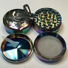 2 Inch 4 Piece Metal Herbal Herb Spice Tobacco Grinder Crusher With Handle Crank photo