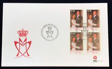 Greenland Post Official FDC 2008.05.24. Royal Couple Wedding - Block of Four