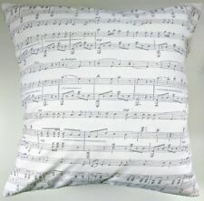 Lilac Grey Music Musical Score Notes Cushion Cover 16""