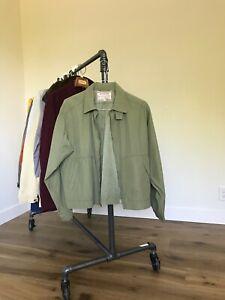 McGregor Olive Scottish Drizzler Jacket 1950s Ricky Rockabilly USA Vintage Crop