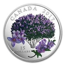 2017 Canada 3/4 oz Ag $15 Celebration of Spring: Lilac Blossoms - SKU #149845