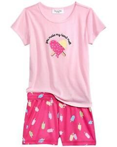 Family PJs Mommy & Me Make My Heart Melt Popsicle Pajama Set Size 6-7 Kids #8034