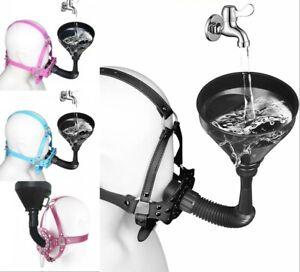 PU Leather Heavy Duty Irrigation Funnel Muzzle Fluid Liquid Restraints headgear