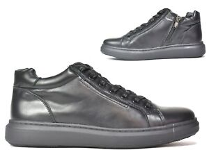 WOMENS NEW COMFORT SIDE ZIP FLAT CASUAL LACE UP SOFT BLACK TRAINERS UK SIZES 5-8