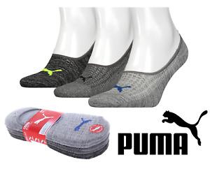 6 Pairs Puma Mens No Show Sports Socks Sport Liner Bulk Multi Socks New
