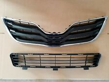 fits 2010-2011 TOYOTA CAMRY Base LE Front Bumper Cover Upper & Lower Grille PAIR