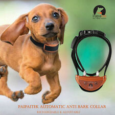 Brown Paipaitek Dog Anti Bark Collar Automatic Rechargeable Adjustable 5 Levels