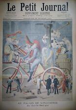 PALAIS DE L'INDUSTRIE BOEUF GRAS UNIFORME ARMEE GRECE TURQUIE PETIT JOURNAL 1897
