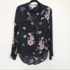 Anthropologie Cloth & Stone Womens Medium Floral Long Sleeve Button Down Top