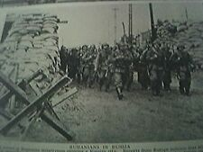 magazine article - ww2 world war two 1942 rumanians enter a russian city