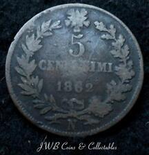 1862 Moneda De Italia 5 Centesimi