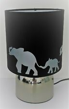 Elephant silhouette Black Touch lamp -3 settings