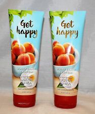 Bath & Body Works Get Happy White Peach Sangria Ultra Shea Body Cream x 2