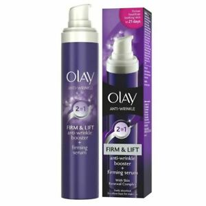 NEW Olay Anti-Wrinkle Booster Firm & Lift 2-In-1 Day Cream & Firming Serum 50ml