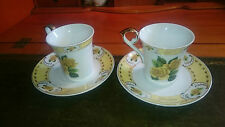 The Leonardo Collection Golden Wedding Anniversary Bone China Cups and Saucers