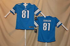 CALVIN JOHNSON Detroit Lions  NIKE Game JERSEY  Youth XL   NWT $70 retail  bl